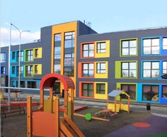 New Educational Space ideas – Architecture Kindergarten Architecture, Kindergarten Design, Kindergarten Projects, Education Architecture, Facade Architecture, School Architecture, School Building Design, School Design, Ecole Design
