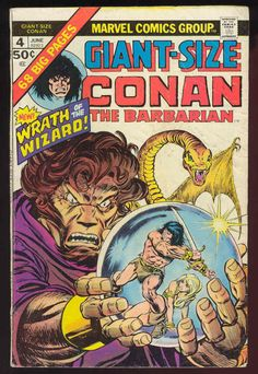 Marvel Comics, Giant-Size Conan the Barbarian Marvel Movie Posters, Avengers Movies, Marvel Comic Books, Comic Books Art, Comic Art, Marvel Comics, Book Art, Comic Books For Sale, Comics For Sale