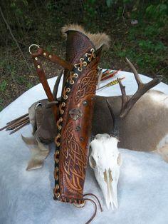 HTooled Leder Archery Köcher Bogen Jäger Bogenschießen Jäger, Celtic, Viking, Renaissance Neuinszenierungen