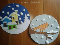 disegni, idee e lavoretti per la scuola dell'infanzia... e non solo Winter Art Projects, Winter Crafts For Kids, Easy Crafts For Kids, Toddler Crafts, Diy For Kids, Kindergarten Crafts, Preschool Crafts, Christmas Projects, Kids Christmas