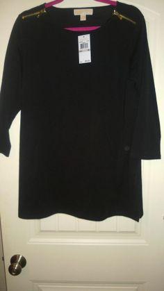 Michael Kors Gold Zip Shoulder Shirt NWT! Authentic Size 1x Retail for $79.50