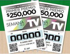 #LoteríaTradicional sorteo Nº 237 del Jueves 08 de Junio 2017. Números Ganadores y Lista de premios - Lotería de Puerto Rico. 😁