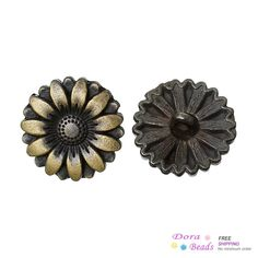 Sun Flower Antique Bronze 18mm