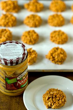 No-Bake Peanut Butter Butterscotch Crisp Cookies