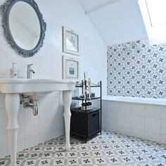 Bathroom | Calvet Gris 20x20 cm. | Vives Azulejos y Gres