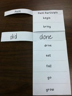 Great irregular verbs foldable!!! (could do this with regular past verbs as…