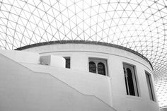 Printable Photography in Black and White, Architectural Detail, British Museum, Vaulted Ceiling.