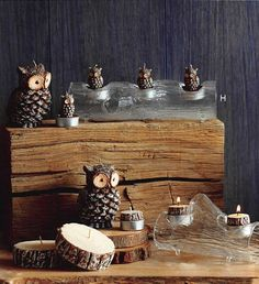 $74.00 Roost Timber Tealight Logs - Set/3