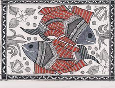 Madhubani Painting - design for my handmade greetingcards. Madhubani Art, Madhubani Painting, Worli Painting, Fabric Painting, Om Namah Shivaya, Tree Of Life Art, Indian Arts And Crafts, Indian Folk Art, Nautical Art