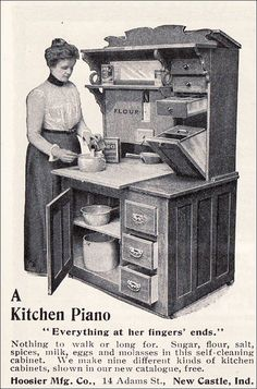 hoosier cabinets | 1901 Hoosier Cabinet - A Kitchen Piano | Flickr - Photo Sharing!