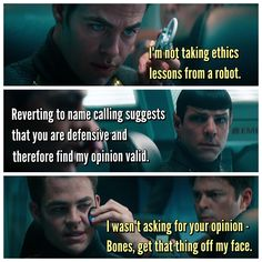 The bickering between the characters is without a doubt my all time favorite parts of the movies!!!!!!!!!!!!!!!!!!!