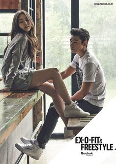 TOP & Sohee「Reebok ... Fashion Poses, Daesung, Top Bigbang, Couple Shots, Couple Posing, Kpop Couples, Cute Couples, Kpop Fashion, Korean Fashion