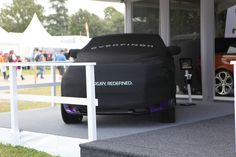 A teasing teaser of the Evoque 2012 GTS on our stand ahead of its launch.