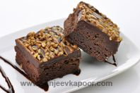 Chocolate Brownies - Eggless: An eggless version of the classical chocolate brownie.
