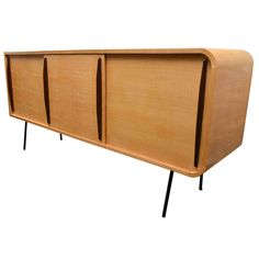 Double Faced Sycamore Cabinet by Raphael | From a unique collection of antique and modern credenzas at https://www.1stdibs.com/furniture/storage-case-pieces/credenzas/