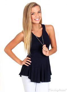 Love Will Find A Way Dark Navy Top | Monday Dress Boutique