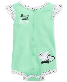 First Impressions Baby Girls' Made With Love French Creeper - Kids Baby Girl (0-24 months) - Macy's