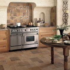 Ceramic Tile Kitchen Floor #floor interior #floor designs #floor design ideas| http://floordecorating.blogspot.com