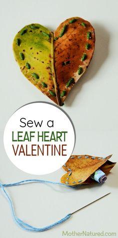 DIY Leaf hearts Vale