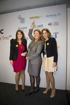 *PRINCE ANDREW and SARAH FERGUSON ~ had two daughters, Princess Beatrice and Princess Eugenie, right
