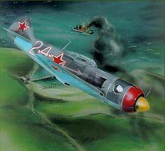 Ла-7 Дважды Героя Советского Союза Амет-хана Султана,9 гиап,весна 1945 года.