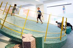 Turner Prize-nominated Assemble has teamed up with artist Simon Terrill to create full-size foam replicas of playground designs from the Brutalist era