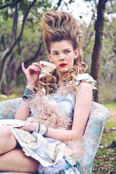 rococo, marie antoinette, fashion photo shoot, editorial, abby richards, boudoir queen, marie antoinette hair, hairstyle, vintage, fashion blog, austin fashion blog