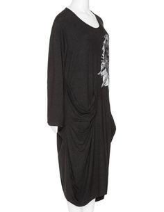 Vincenzo Allocca Jersey print dress in Black