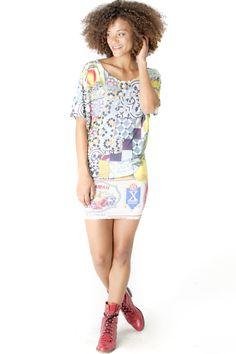 Get the dress here! http://www.shophappiness.com/abito-over-cuba-feliz-multicolor.html