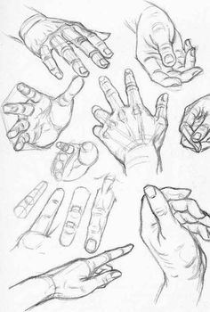 Hand and finger foreshortening
