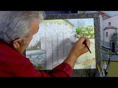 ΣχεδιαΖΩγραφίζω μια πασχαλιά στο Νεχώρι./ Painting a lilac on a streetdo... Watercolor Paintings, Tv Shows, Water Colors, Watercolour Paintings, Tv Series, Watercolor Painting