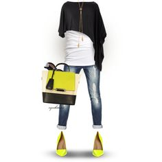 """Neon"" by cynthia335 on Polyvore"