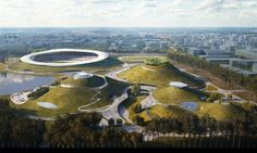 MAD brings surreal sports complex with vast green roof to China | Inhabitat - Green Design, Innovation, Architecture, Green Building #landscapearchitecture