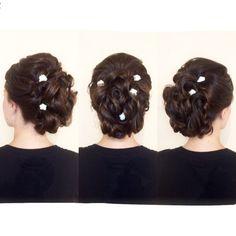 Bridal Updo! Wedding Hair👰🏼 Hair by me: Tina Tobar 🙋🏼 Appointments: (312)366-2117 Salon: Renee Feldman Salon Chicago: 1006 N Clark
