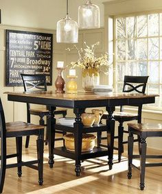 Another great find on #zulily! Black Oak Five-Piece Counter-Height Dining Set by Coaster #zulilyfinds #coasterfurniturediningsets