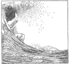 """W. Heath Robinson   Melbourne. Illustration for """"The Song of the Cities""""."""