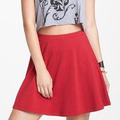 Red hot skater skirt.