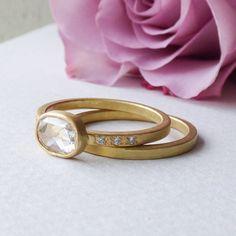 iris rose cut diamond ring in 18ct fairtrade gold by shakti ellenwood | notonthehighstreet.com