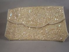 Vintage 1960s Sequin and Pearl Clutch on Etsy, $12.00