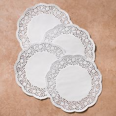 6.5 in. Paper Doilies White (140/pack)