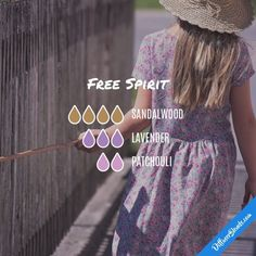Free Spirit - Essential Oil Diffuser Blend including sandalwood, lavender and patchouli