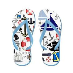 Naturally Nautical Flip Flops from Stir Crazy $16.00