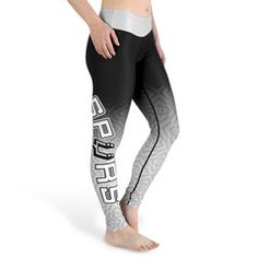 San Antonio Spurs Official NBA Gradient Leggings - Available In All Sizes A Must Have For All Spurs Fans!