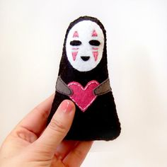 Noface felt plushie No face doll from Spirited Away por yael360