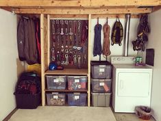 Camping Gear - 18 Climbing Gear Storage Ideas to Use as Inspiration for Your Gear Rack Camping Storage, Garage Storage, Storage Room, Closet Organization, Storage Spaces, Storage Ideas, Storage Drawers, Materiel Camping, Best Camping Gear