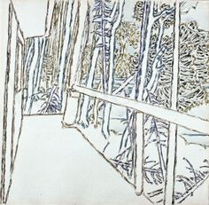 David Milne - Porch and Trees