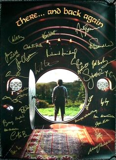 """'Hobbit"""" Poster Signed by Everyone. I SAD. HAVE NO MONEY.."""