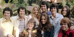 Back row: Jay, Wayne, Suzanne, Alan, Donny and Mary. Front row: Jimmy, Marie and Merrill Osmond