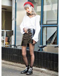 コリアンムードを落とし込んだERIA/AREA @eriaarea ならブラックホワイトレッドの配色もエッジの効いたスタイルに May issue P99 SPRING PAPER DOLL GIRLS model @18_erikaaa tops @eriaarea bottoms @eriaarea choker @eriaarea necklace @bubblestokyo shoes @drmartens_japan #nylonjapan #nylonjp #fashion #streetstyle #streetsnap #snap #shopsstaff #eriaarea #korea #2k17 #caelumjp  via NYLON JAPAN MAGAZINE OFFICIAL INSTAGRAM - Celebrity  Fashion  Haute Couture  Advertising  Culture  Beauty  Editorial Photography  Magazine Covers  Supermodels  Runway…