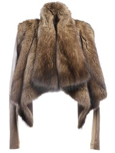Liska | draped beaver fur jacket #liska #fur #jacket